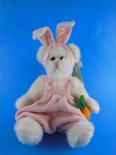 Fully jointed white easter bunny
