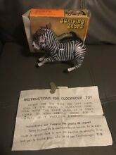 Jumping zebra toy