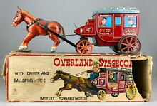 Overland stagecoach japanese tin