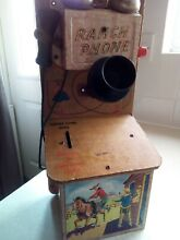 1950 s tinplate ranch phone toy