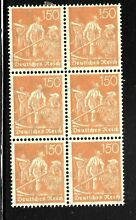 Germany sc 175 block of 6 5 mint no