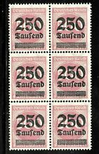 Germany sc 259 block of 6 4 mint no