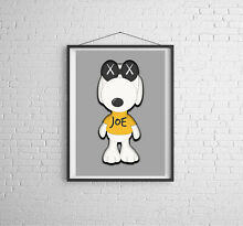 Snoopy kaws poster print artwork