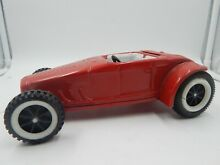 Red ford roadster tin toy