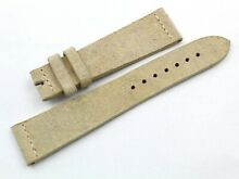 Beige strap band pelle made italy