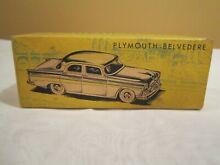 Plymouth belvedere box only mint