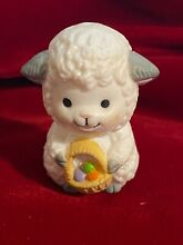 Baby sheep lamb easter egg basket
