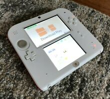 Nintendo 2ds console white red w
