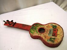 Atc 1960 s tin toy folksong guitar