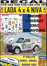 Decal 4x4 andre trossat paris dakar