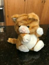 Tabby kitty cat plush animal orange