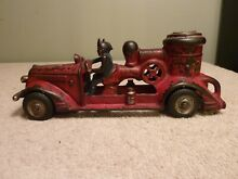Cast iron fire pumper truck 8 1 2