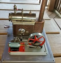 D10 toy steam engine working and