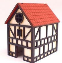Wwg mdf medieval town house 28mm