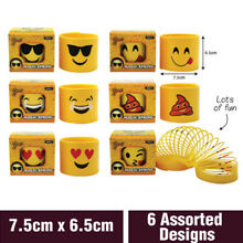 6pcs small plastic smiley face