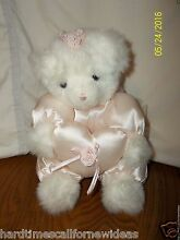 Ariel white bear satin pink outfit