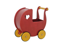 Moover doll s pram in red