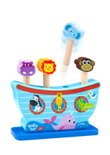 Wooden pop up 4 x animal peg game