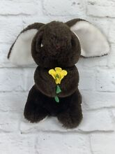 8 co easter bunny plush brown
