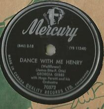 78 rpm record georgia dance me