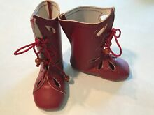 Unique leather red boots for a 27