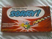 Sorry board game waddingtons retro