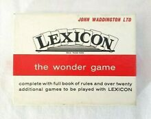 Lexicon card word letter game by