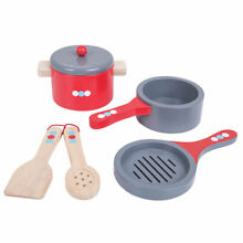 Bigjigs toys wooden cooking pannen