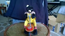 Bear on scooter friction toy works