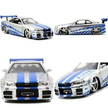 Toys fast furious silver blue