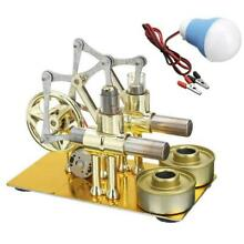 Double cylinder hot air motor model