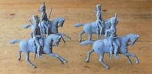 4 unpainted britains lead mounted