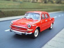 1 43 scale skoda 1000 mb brick red