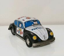 Police car tin toy japan volkswagen