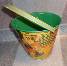 Old tin litho mickey mouse sand