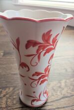 Floral vase by hand painted coral