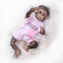 Decdeal realistic baby monkey doll