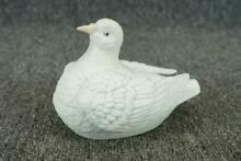 Ceramic swan covered trinket bowl