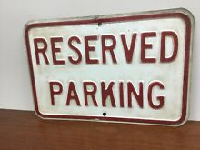 Embossed reserved parking road
