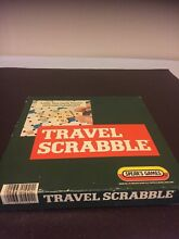 Travel scrabble board game by