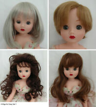 4 wigs to fit 19 cissy doll set 1