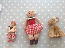3 x small dolls ari rubber doll