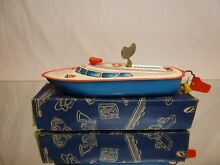 Ms y tin toys police boat windup