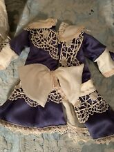 Silk dress for french doll jumeau