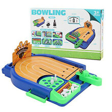 Mini desktop bowling alley game