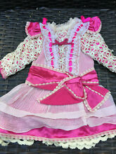 Silk dress for french doll 5 7