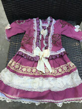 Silk cotton dress for french doll