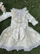 Silk cotton dress for french doll 9