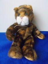 Tabatha cat plush 7 brown tabby