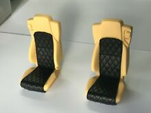 Diamond stitched seats leather for